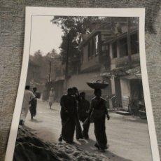 Fotografía antigua: FOTOGRAFÍA PROFESIONAL ARTÍSTICA BLANCO Y NEGRO- PAISAJE INDIA, 30'5X20CM.. Lote 162313714
