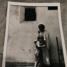 Fotografía antigua: FOTOGRAFÍA PROFESIONAL ARTÍSTICA BLANCO Y NEGRO- PAISAJE INDIA, 30'5X20CM.. Lote 162315593