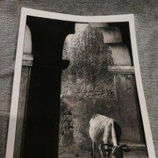 Fotografía antigua: FOTOGRAFÍA PROFESIONAL ARTÍSTICA BLANCO Y NEGRO- PAISAJE INDIA, 30'5X20CM.. Lote 162315684