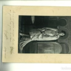 Fotografía antigua: SEÑORITA POSANDO EN ESTUDIO. MATARREDONDA ALCOY,1927, . Lote 162839754