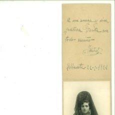 Fotografía antigua: SEÑORITA POSANDO CON MANTILLA Y PEINETA. BELDA-ALBACETE. Lote 162949270