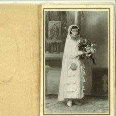 Fotografía antigua: RECORDATORIO FOTOGRAFÍA COMUNIÓN. JOSÉ LLOPIS VALENCIA. Lote 162953374