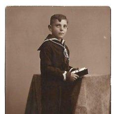 Photographie ancienne: 2150-EXTRAORDINARIA FOTOGRAFIA ANTIGUA- UN NIÑO DE COMUNION -FOTO - GARAY - VALLADOLID DE 1935. Lote 163501278