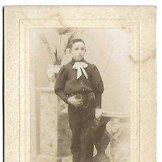 Photographie ancienne: 2150-EXTRAORDINARIA FOTOGRAFIA ANTIGUA- UN NIÑO DE COMUNION -FOTO - J.GARAY- VALLADOLID -. Lote 163504014