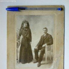Fotografía antigua: FOTOGRAFÍA ANTIGÜA REALIZADA EN EL ESTUDIO MURO (LOGROÑO) - PAREJA. Lote 163544074