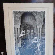 Fotografía antigua: FOTOGRAFIA ARTÍSTICA.- ESCENA FAMILIAR EN LA ALAMBRA, 17X11 CM. EMILIO RUIZ, ALHAMBRA, 64, GR.. Lote 164762086