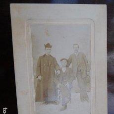 Fotografía antigua: FOTOGRAFIA ARTÍSTICA.- RTO.FAMILIAR, 11 X 8 CM. SELLO EN SECO, MADRID.. Lote 164764922