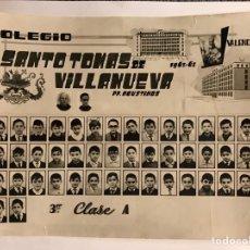 Fotografía antigua: FOTOGRAFÍA. VALENCIA COLEGIO SANTO TOMAS DE VILLANUEVA. P.P. AGUSTINOS CURSO 1962-63. Lote 164967626