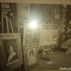 Fotografía antigua: ORIGINAL FOTO DEL ESTUDIO DEL PINTOR PEDRO SAENZ SIGLO XIX LA TOILETTE DE LA MODELO. Lote 165096242