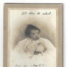 Fotografía antigua: FOTOGRAFÍA RECIÉN NACIDO. FOTÓGRAFO CANTOS. ALICANTE- AÑOS 20. Lote 165225922