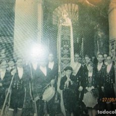 Fotografía antigua: FOTO FIESTAS BANDA MUSICAL TIERRUCA PRINCIPIOS DE SIGLO REPRODUCCION ANTIGUA. Lote 165309626