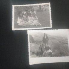 Fotografía antigua: 2 FOTOS 1953. BILBAO ROMERÍA. BARRIO DE LA PEÑA VIZCAYA. Lote 165443106