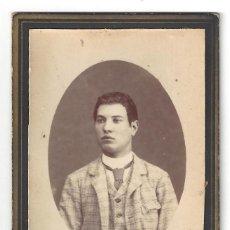 Fotografía antigua: FOTOGRAFÍA RETRATO CABALLERO. FOTÓGRAFO DOMINGO BOSCH. FIGUERAS- GERONA (SIGLO XIX). Lote 165754606