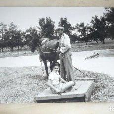 Fotografía antigua: FOTO AÑOS 60/70 EN LA ERA TRILLANDO. Lote 165781574