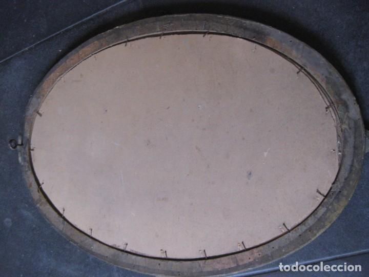 Fotografía antigua: preciosa fotografia iluminada s. carreras Mataro año 1930 . niña 53/38 cm marco ovalado dorado foto - Foto 12 - 166025682