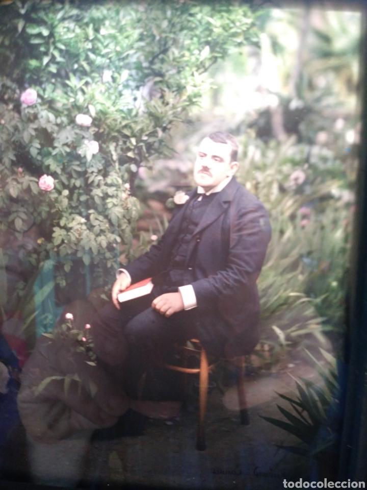 AUTOCHROME. MARIUS GASCON RICHARD. 1869-1935. RETRATO. PLACA AUTOCROMA. (Fotografía - Artística)