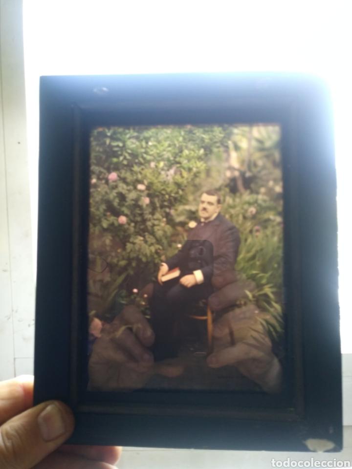 Fotografía antigua: AUTOCHROME. MARIUS GASCON RICHARD. 1869-1935. RETRATO. PLACA AUTOCROMA. - Foto 2 - 166259000