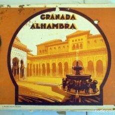Fotografía antigua: LIBRO-CUADERNO CON FOTOGRAFIAS DE GRANADA.ALHAMBRA.FOTOGRAFO LUCIEN ROISIN. Lote 166429922