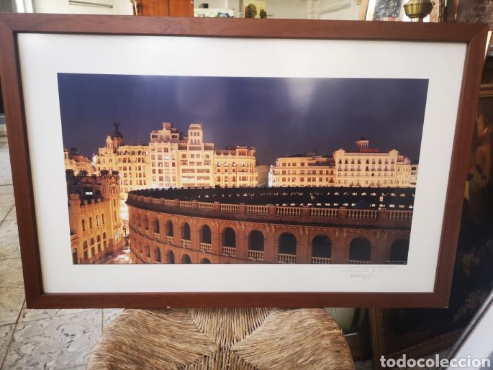 GRAN FOTOGRAFIA ENMARCADA DE LA PLAZA DE TOROS DE VALENCIA. FOTO DE PEREZ DE LOS COBOS GIRONÉS (Fotografía - Artística)