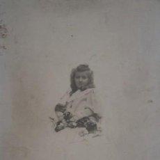 Fotografía antigua: NAPOLEON FOTOGRAFO RETRATO DE NIÑA - PORTAL DEL COL·LECCIONISTA *****. Lote 167954664