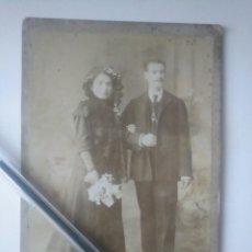 Fotografía antigua: FOTO ANTIGUA PAREJA. FINALES DEL XIX LOS ITALIANOS SANTANDER CANTABRIA. Lote 168344004