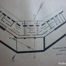 Fotografía antigua: AÑO 1896 COLOMBOFILIA. PALOMARES MILITARES ESPAÑOLES. ESTACIÓN DE JACA. Lote 168425998