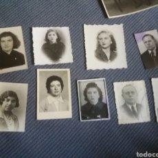 Fotografía antigua: 9 FOTOS CARNET FOTOMATON AÑOS 30-50. Lote 168455680
