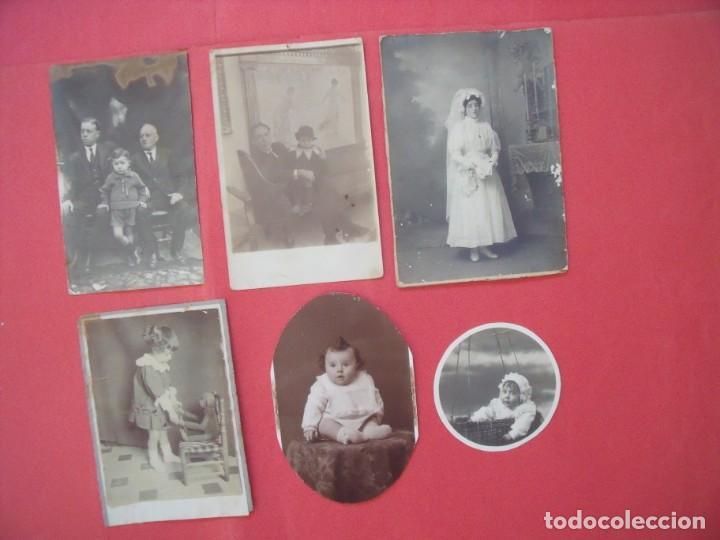 FOTOGRAFIAS.-TRAJE DE NOVIA.-NIÑOS.-FOTOS.-LOTE DE 6 FOTOS ANTIGUAS. (Fotografía - Artística)