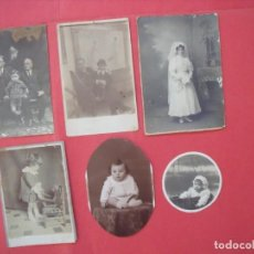 Fotografía antigua: FOTOGRAFIAS.-TRAJE DE NOVIA.-NIÑOS.-FOTOS.-LOTE DE 6 FOTOS ANTIGUAS.. Lote 168744856