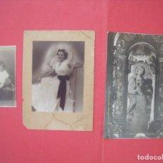 Fotografía antigua: FOTOGRAFIA ALEMANA.-LAS PALMAS.-IMPERIO.-MALAGA.-SERRANO.-SEVILLA.-VIRGEN.-LOTE DE 3 FOTOS ANTIGUAS.. Lote 168745156