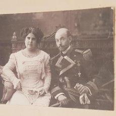 Fotografía antigua: FOTOGRAFÍA 1891 ESTUDIÓ MOVELLA VALENCIA MILITAR CON ESTRELLA DE 6 PUNTAS ( FIRMADA EN EL DORSO ). Lote 169082934