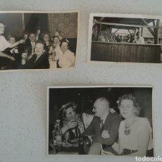 Fotografía antigua: TRES FOTOGRAFÍAS FOTO DE GRUPOS EN ASPECTO FESTIVO, AÑOS 40-50, ALEMANES.. Lote 169134446