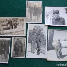Fotografía antigua: LOTE FOTOGRAFIAS DE MILITARES. Lote 169209824