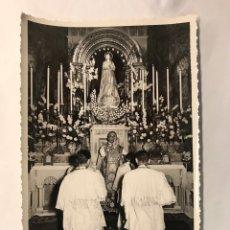 Fotografía antigua: VALENCIA. CONGRESO EUCARÍSTICO NACIONAL. CAPILLA BIZANTINA DE LA BENEFICIENCIA.. Lote 169746788