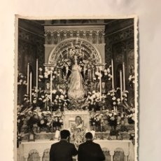 Fotografía antigua: VALENCIA. CONGRESO EUCARÍSTICO NACIONAL. CAPILLA BIZANTINA DE LA BENEFICIENCIA.. Lote 169747014