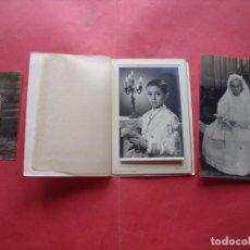 Fotografía antigua: FOTOGRAFIAS.-PRIMERA COMUNION.-HARETON.-SEVILLA.. Lote 170421140