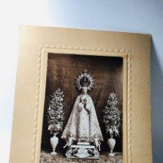Fotografía antigua: ANTIGUA FOTOGRAFIA DE VIRGEN DE LA ASUNCIÓN · PATRONA DE ELCHE ··· 25 X 21 CMS. Lote 170977579