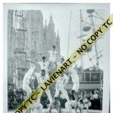 Fotografía antigua: FALCONS - CASTELLERS ACROBÀTICS DE BARCELONA - CATALUNYA AÑOS 50 - ORIGINAL TIBIDABO. Lote 171069922