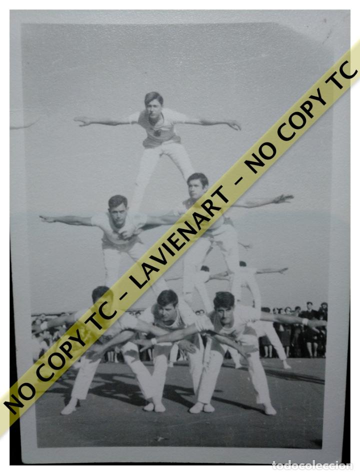 FALCONS - CASTELLERS ACROBÀTICS DE BARCELONA - CATALUNYA AÑOS 50 - ORIGINAL (Fotografía - Artística)