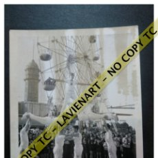 Fotografía antigua: FALCONS - CASTELLERS ACROBÀTICS DE BARCELONA - CATALUNYA AÑOS 50 - ORIGINAL TIBIDABO. Lote 171070115