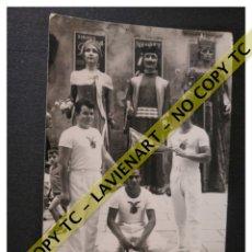 Fotografía antigua: FALCONS - CASTELLERS ACROBÀTICS DE BARCELONA - CATALUNYA AÑOS 50 - ORIGINAL GIGANTES. Lote 171070134
