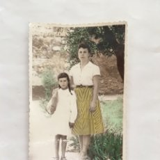 Fotografía antigua: MAESTRA Y ALUMNA. FOTOS GRÁFICAS REBOLLAR. VALENCIA. H. 1955?.. Lote 171963538