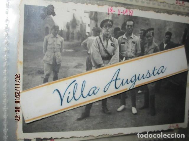 BATALLA DEL EBRO OFICIALES LEGION EN PLENA GERRA CIVIL 19 X 1938 PUEBLO DE CATALUÑA (Fotografía - Artística)