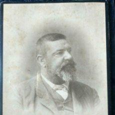 Fotografía antigua: ANTIGUA FOTOGRAFÍA VALENCIA DETRÁS ESCRITO FAMILIA BENLLIURE CARTÓN . Lote 172283390