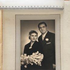Fotografía antigua: RECIÉN CASADOS. JULIÁN FOTÓGRAFO. VALENCIA. H. 1950?. Lote 173003135