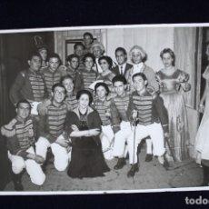 Fotografía antigua: FOTOGRAFÍA VALENCIA FALLAS 1955 DISFRACES FOTO ENGUIDANOS. Lote 173453359