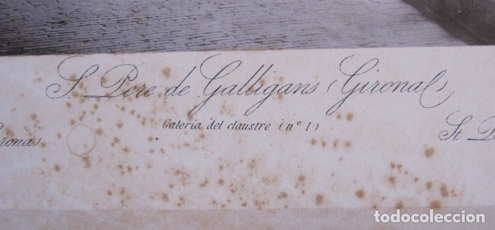 Fotografía antigua: FOTOGRAFIA ANTONI MASSÓ. GIRONA. S. PERE DE GALLIGANS. GALERIA DEL CLAUSTRO. FOTOTIPIA J THOMAS - Foto 6 - 173861700