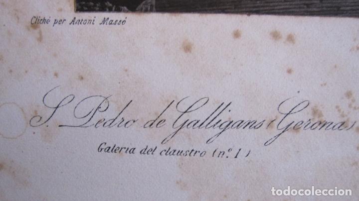 Fotografía antigua: FOTOGRAFIA ANTONI MASSÓ. GIRONA. S. PERE DE GALLIGANS. GALERIA DEL CLAUSTRO. FOTOTIPIA J THOMAS - Foto 10 - 173861700