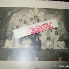 Fotografía antigua: REPUBLICA ALICANTE ASILO DEL REMEDIO 1935 FOTO ESTUDIO SANCHEZ BELLEZAS CON PRESIDENTE. Lote 174487885