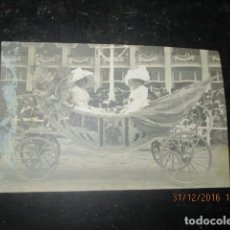 Fotografía antigua: BATALLA DE FLORES O CORPUS CARROZA DESFILE FIESTAS VALENCIA PRINCIPIOS SIGLO CUÑO FOTOGRAFICO. Lote 174502270